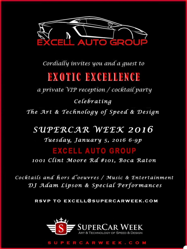 Excell Auto Group SuperCar Week